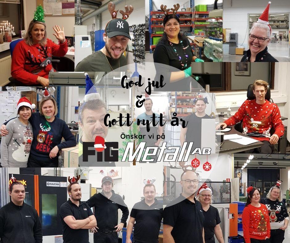 god jul & gott nytt år fig metall